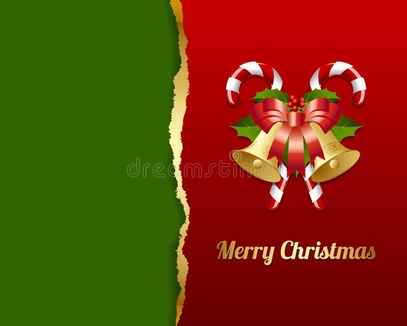 Cartão de Natal rasgado ilustração royalty free