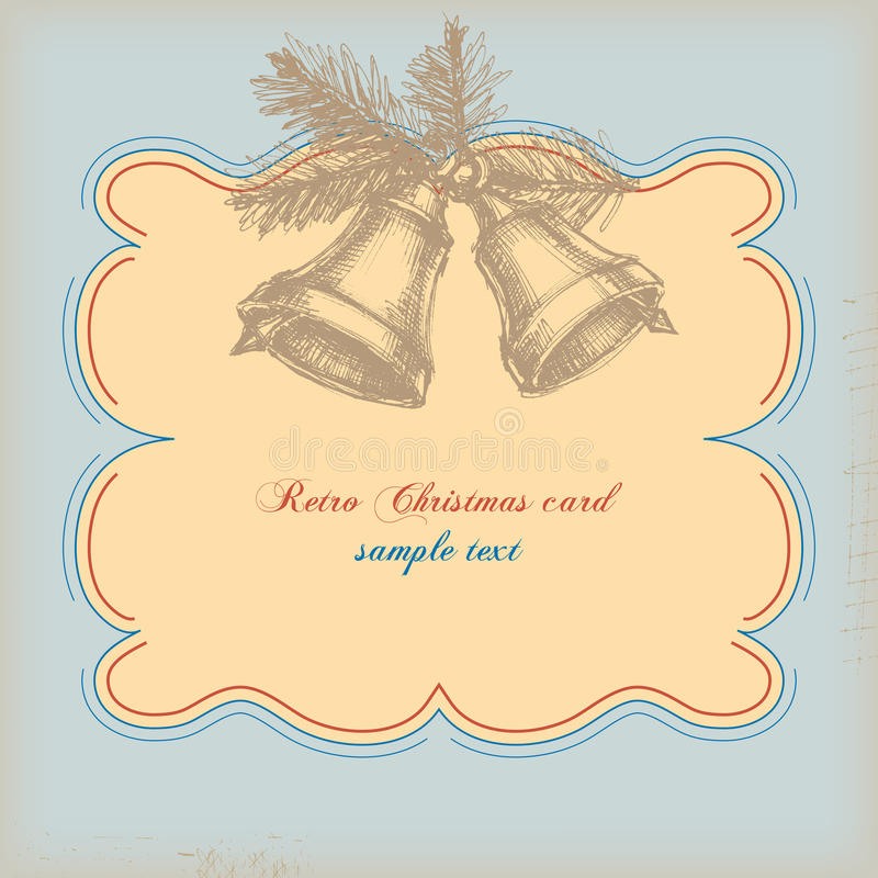 Cartão de Natal retro ilustração royalty free