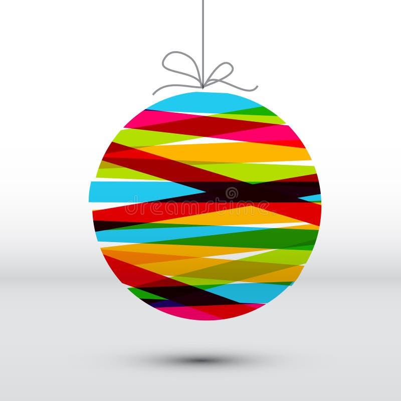 Cartão de Natal simples de Minimalistic ilustração do vetor