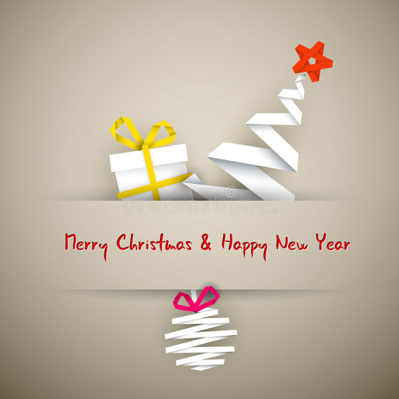 Cartão de Natal simples do vetor ilustração stock