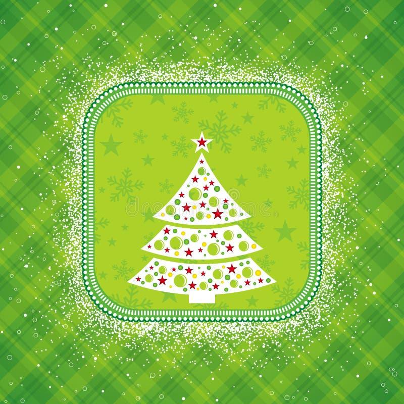 Cartão de Natal verde, vetor ilustração royalty free