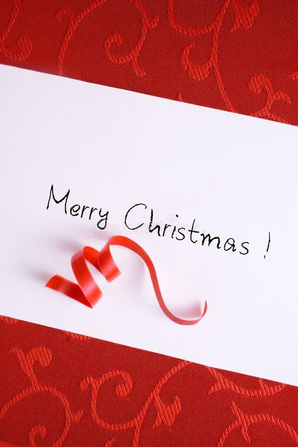 Cartão de Natal vermelho fotografia de stock