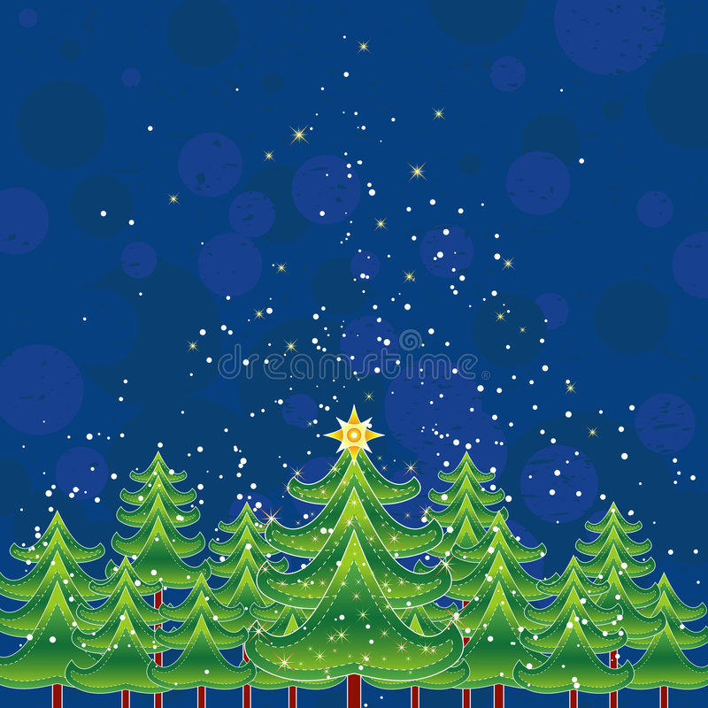 Cartão de Natal, vetor ilustração royalty free