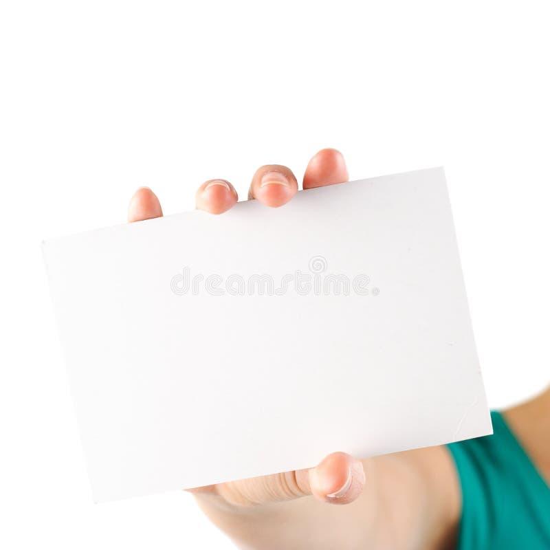 Cartão de nota em branco foto de stock royalty free