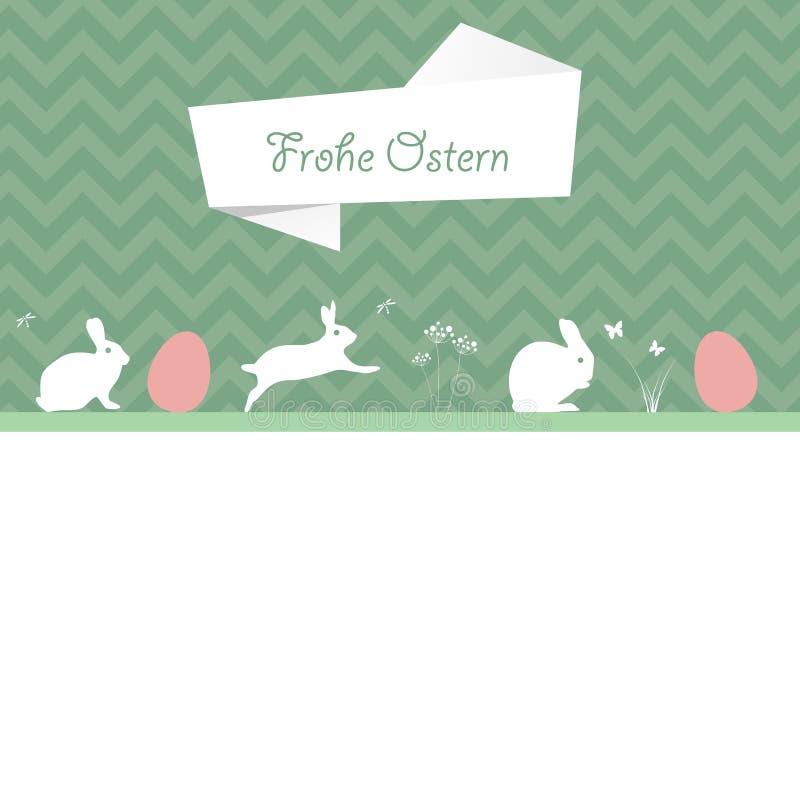 Cartão de Páscoa ilustração stock