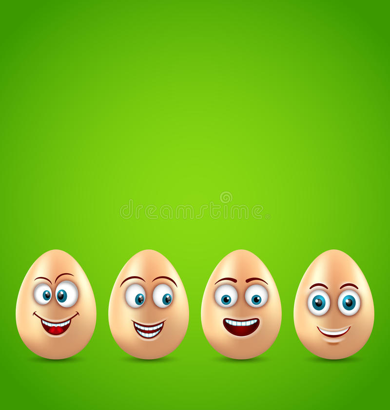 Cartão de Páscoa do humor com ovos engraçados ilustração do vetor