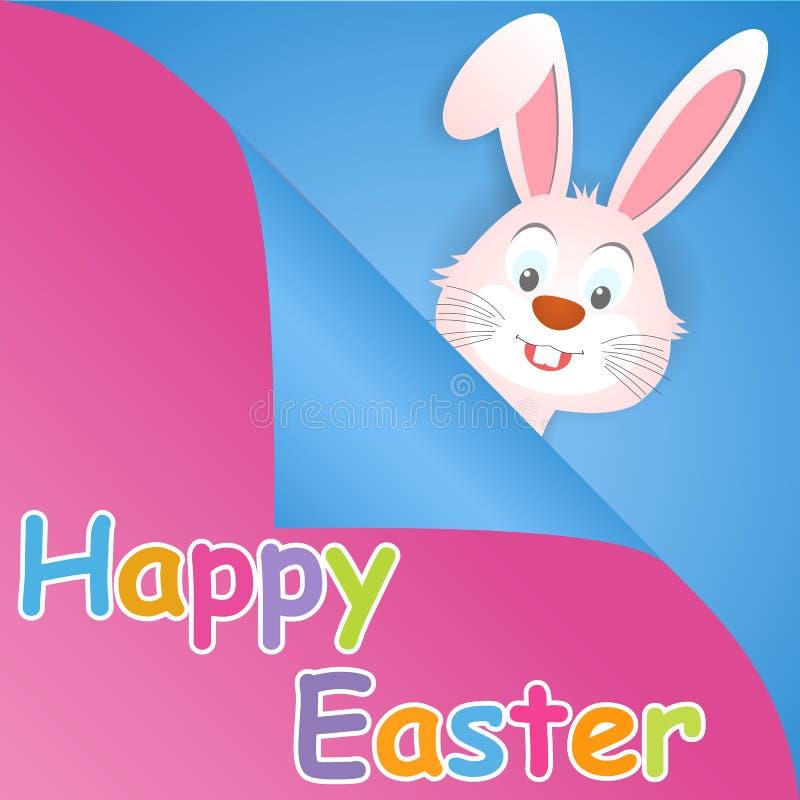 Cartão de Páscoa feliz com orelhas de coelho ilustração royalty free