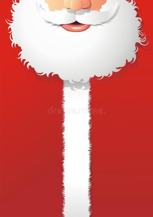 Cartão de Papai Noel ilustração do vetor