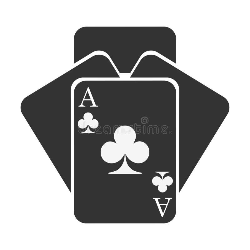 Cartão de quatro clubes - vetor ilustração royalty free