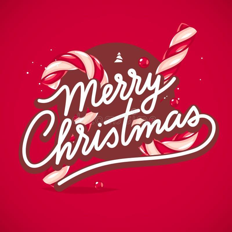 Cartão de rotulação do Natal ilustração royalty free