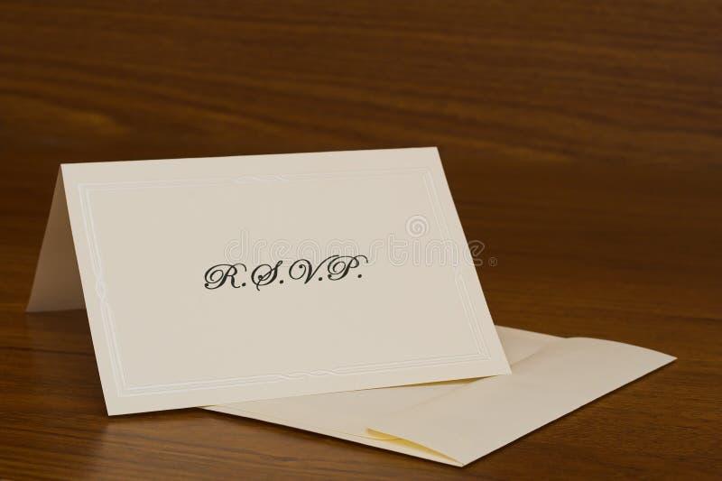 Cartão de RSVP imagem de stock royalty free
