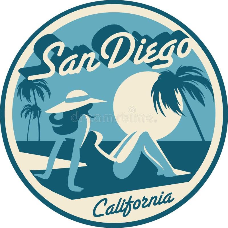 Cartão de San Diego California foto de stock