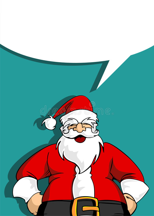 Cartão de Santa com bolha social em branco ilustração royalty free