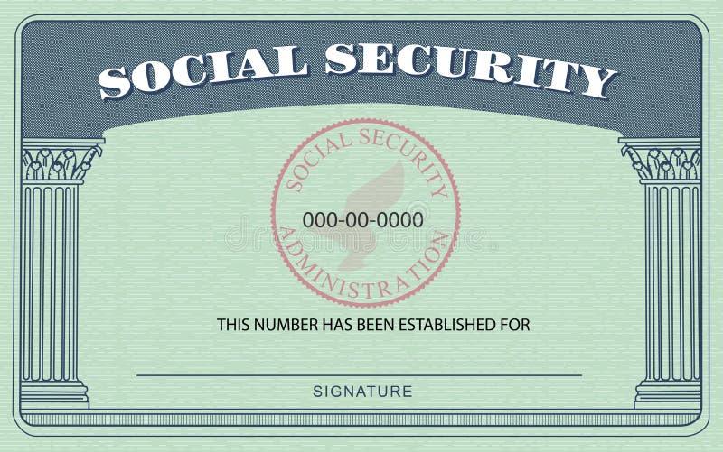 Cartão de segurança social ilustração royalty free