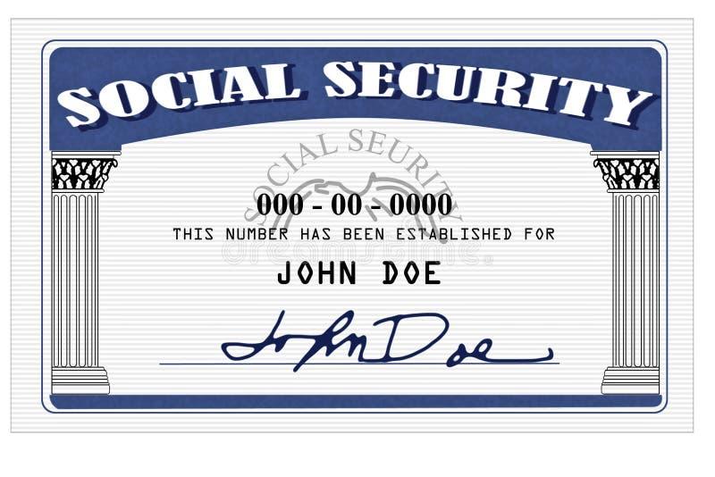 Cartão de segurança social ilustração do vetor