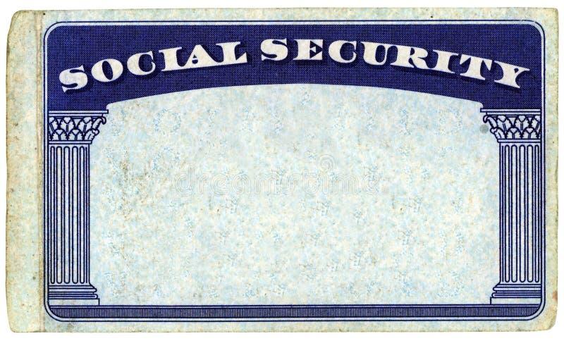 Cartão de segurança social americano em branco foto de stock