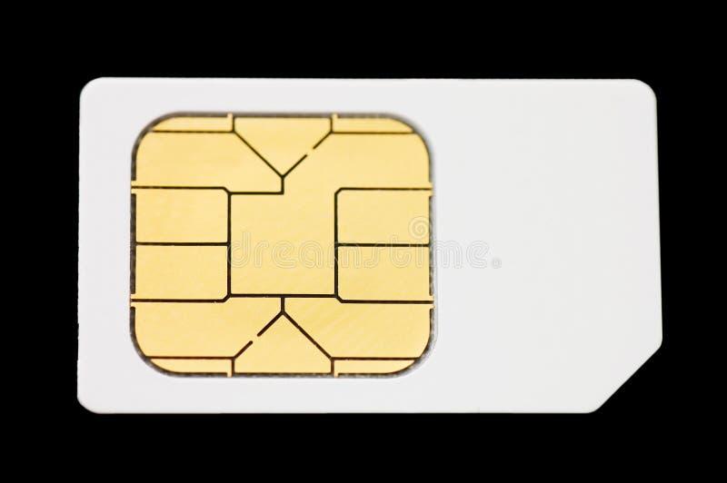 Cartão de Sim foto de stock