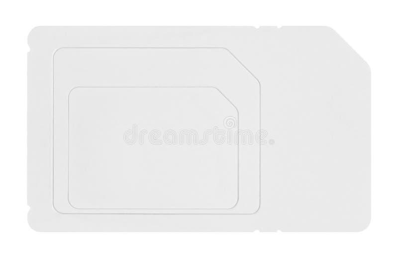 Cartão de Sim foto de stock royalty free