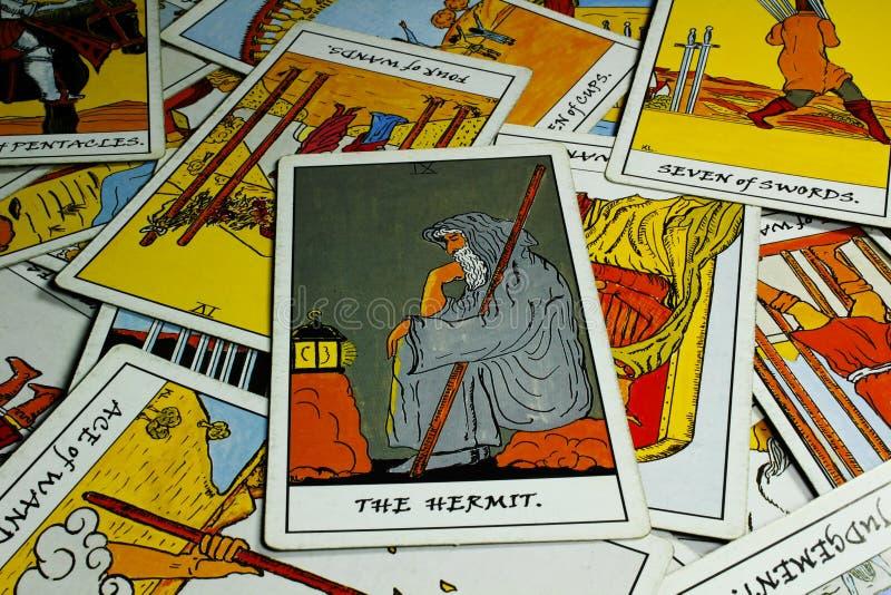 Cartão de Tarot fotos de stock royalty free