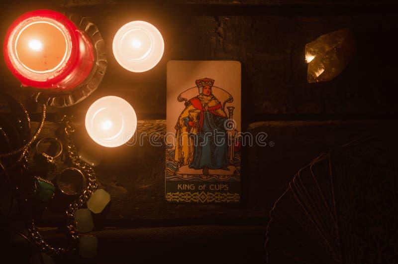 Cartão de Tarot Leitura futura divination imagens de stock royalty free