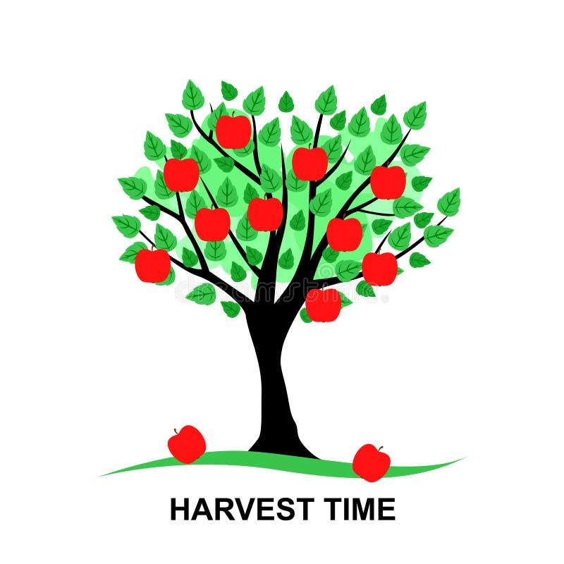 Cartão de tempo da colheita ilustração do vetor