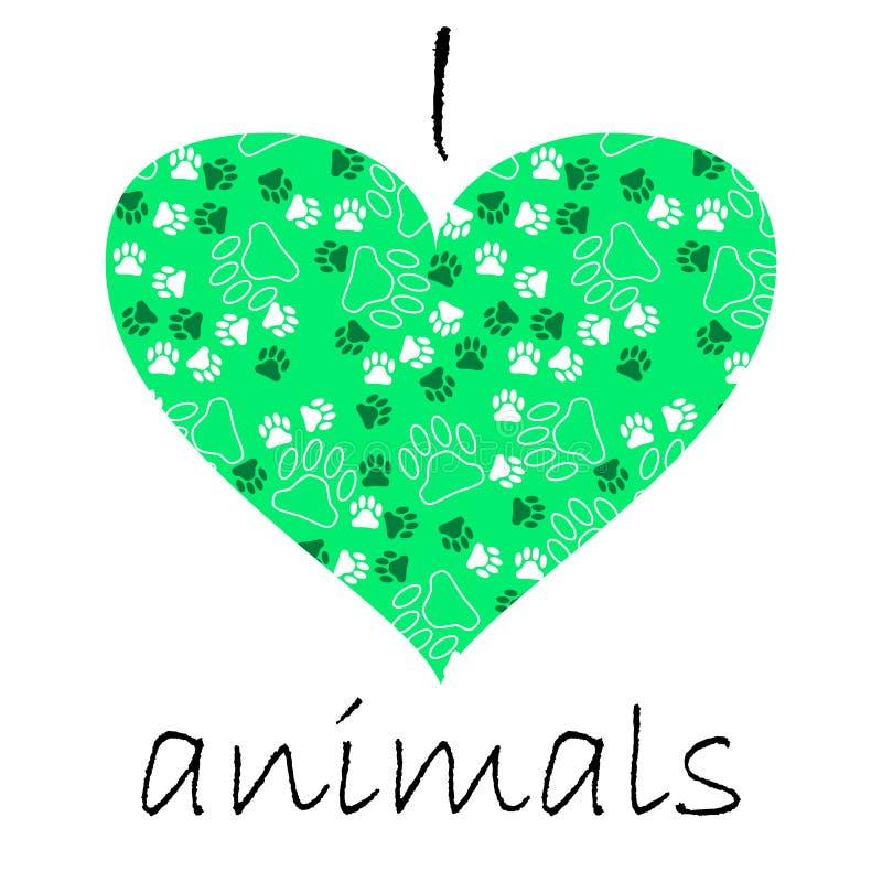 cartão de texto de muitos animais de estimação pata e ossos ilustração do vetor