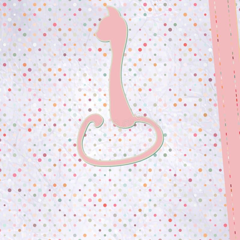 Download Cartão De Texto Decorativo Com Gato Da Colagem. EPS 8 Ilustração do Vetor - Ilustração de animal, nota: 29826658