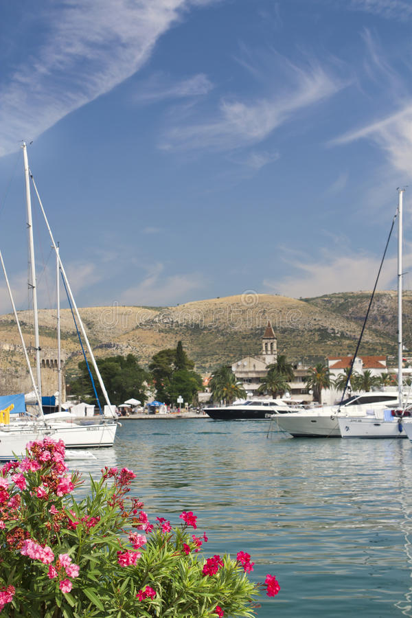 Cartão de Trogir, Croatia fotos de stock
