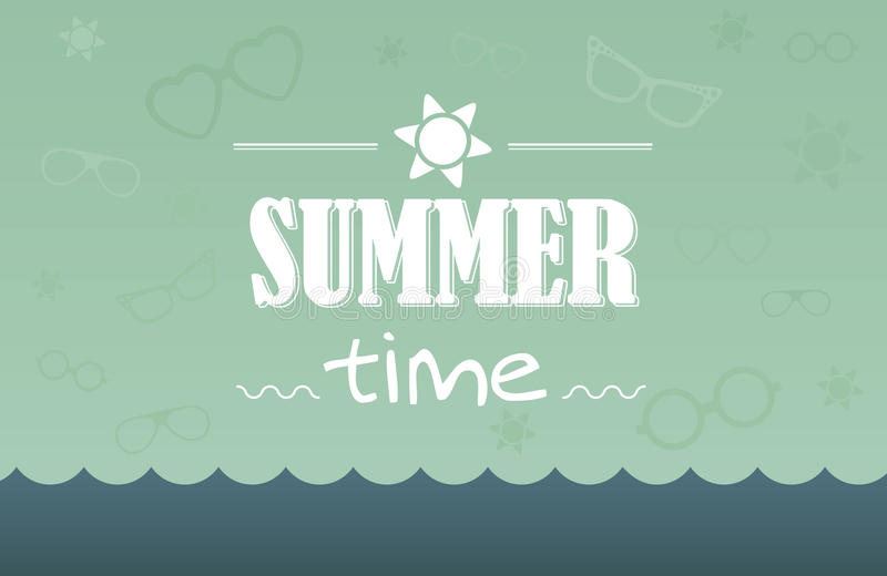 Cartão de verão ilustração royalty free