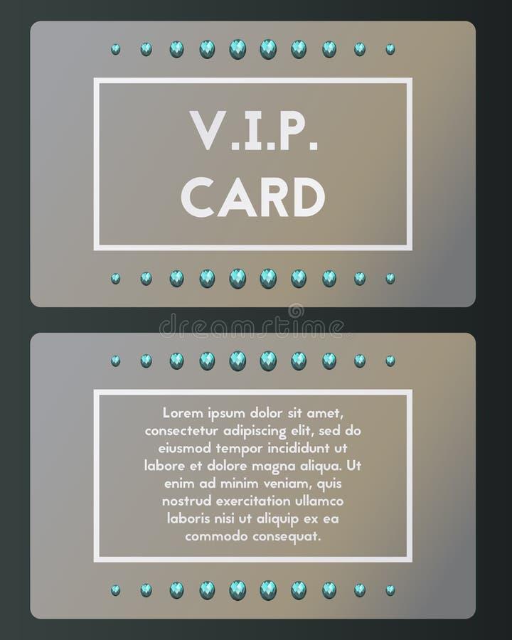 Cartão de visita do VIP com topázio Cutaway do luxo ilustração royalty free