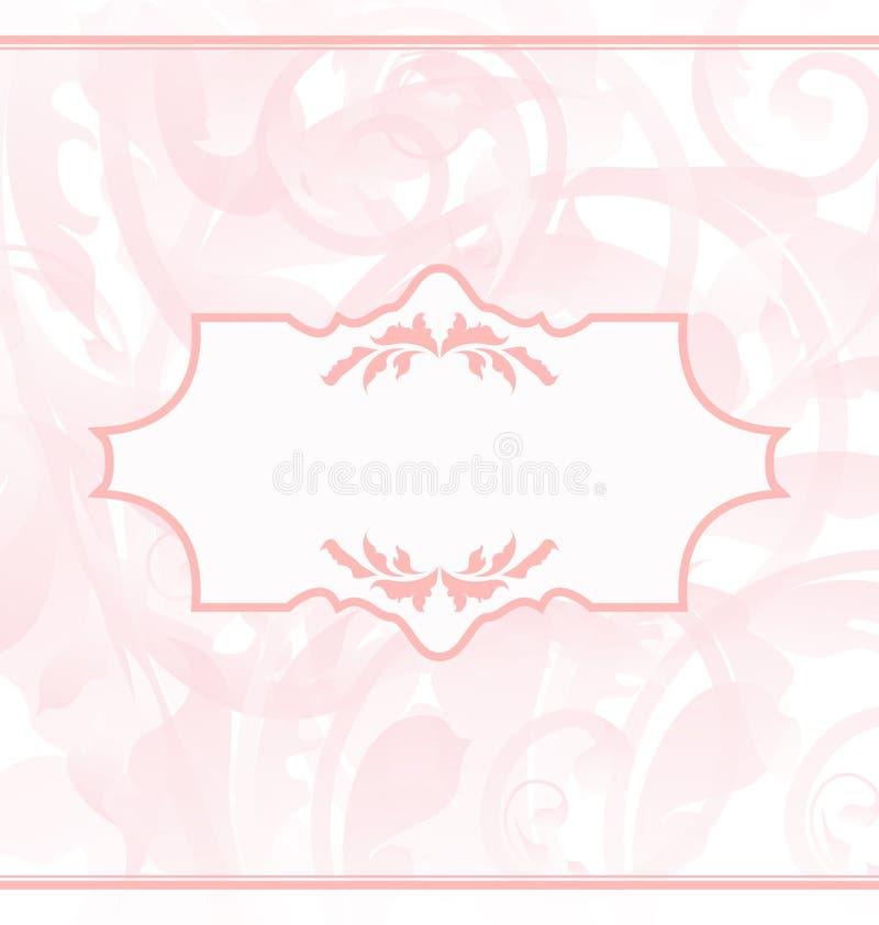 Cartão decorativo do casamento ou do bebê ilustração royalty free