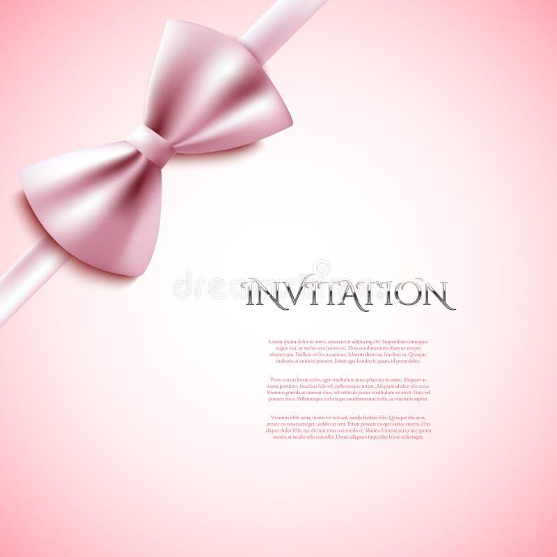 Cartão decorativo do convite com curva ilustração stock