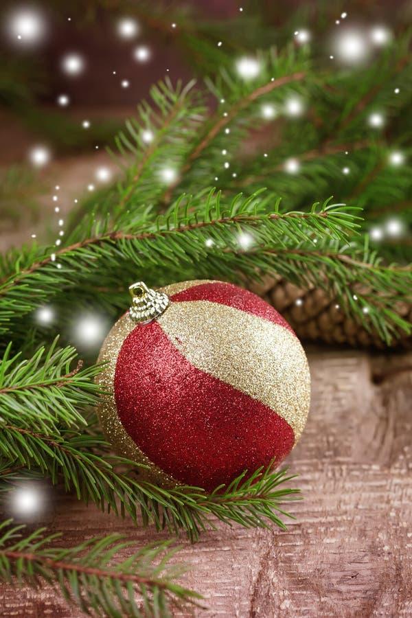 Cartão decorativo do Natal fotografia de stock royalty free