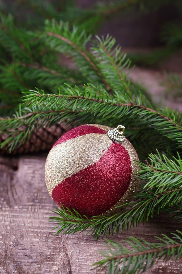 Cartão decorativo do Natal fotografia de stock