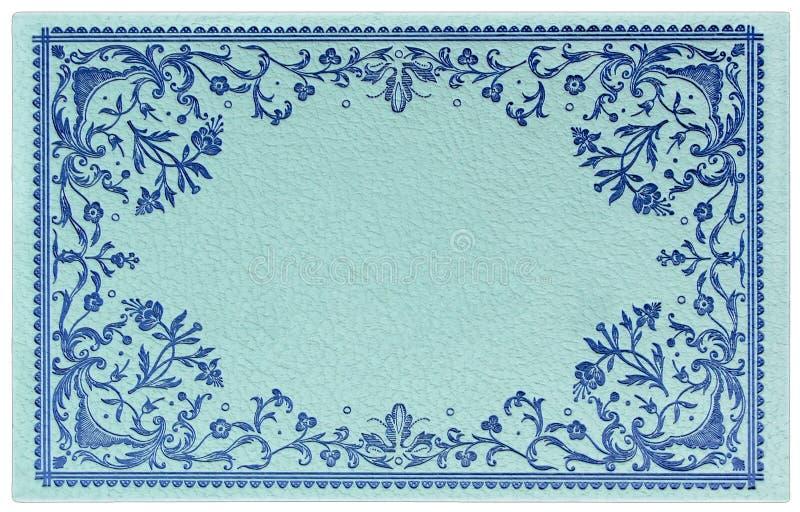 Cartão decorativo do vintage ornamentado ilustração stock