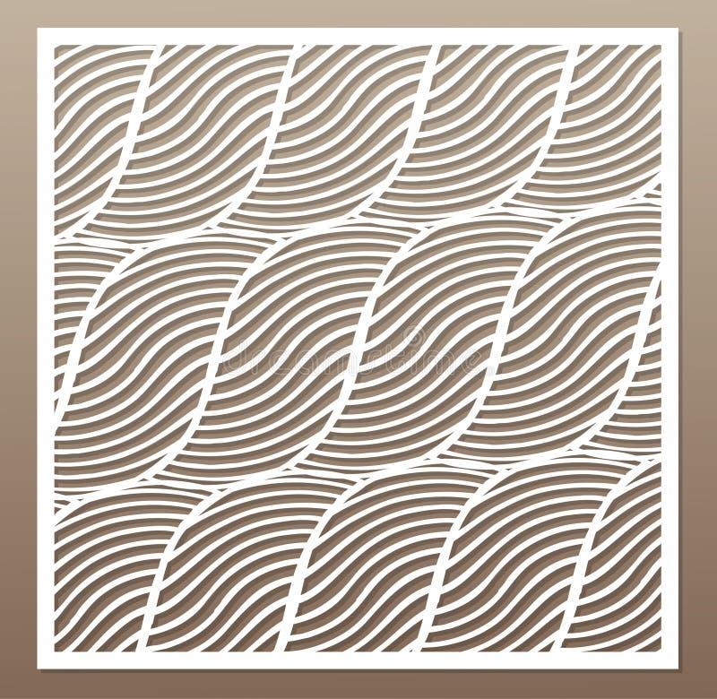 Cartão decorativo para cortar Corda, linha squiggly teste padrão ilustração royalty free