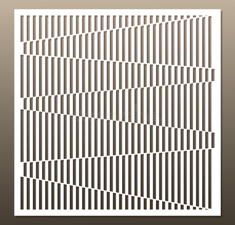 Cartão decorativo para cortar Linha teste padrão Corte do laser relação ilustração do vetor