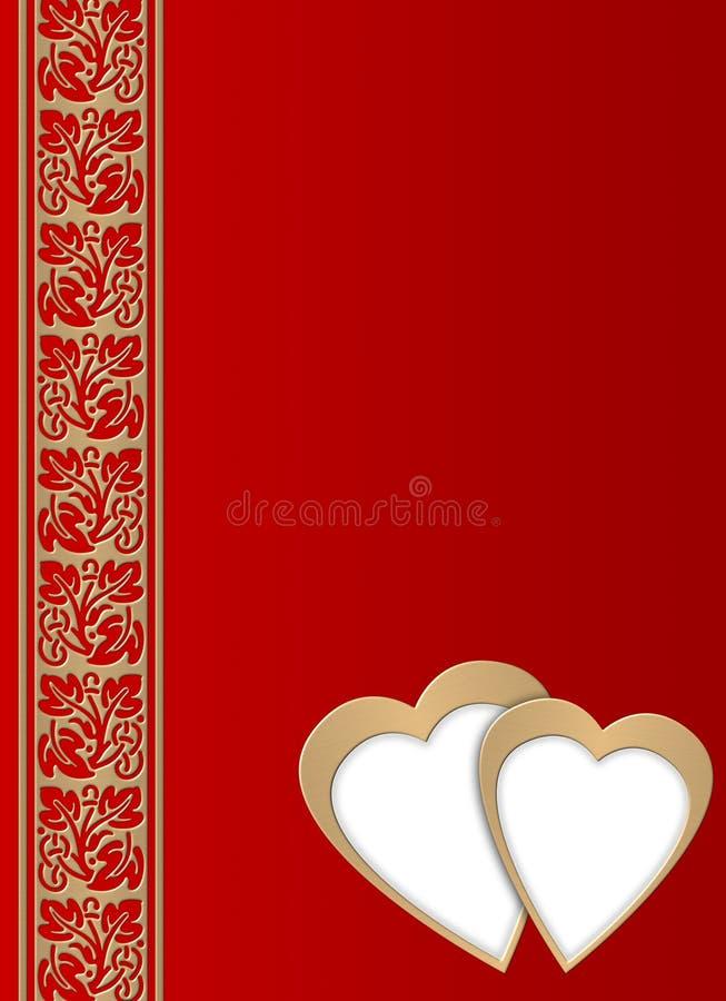 Cartão - dia de Valentim ilustração royalty free