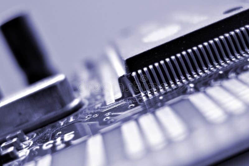 Cartão do adaptador de rede imagem de stock
