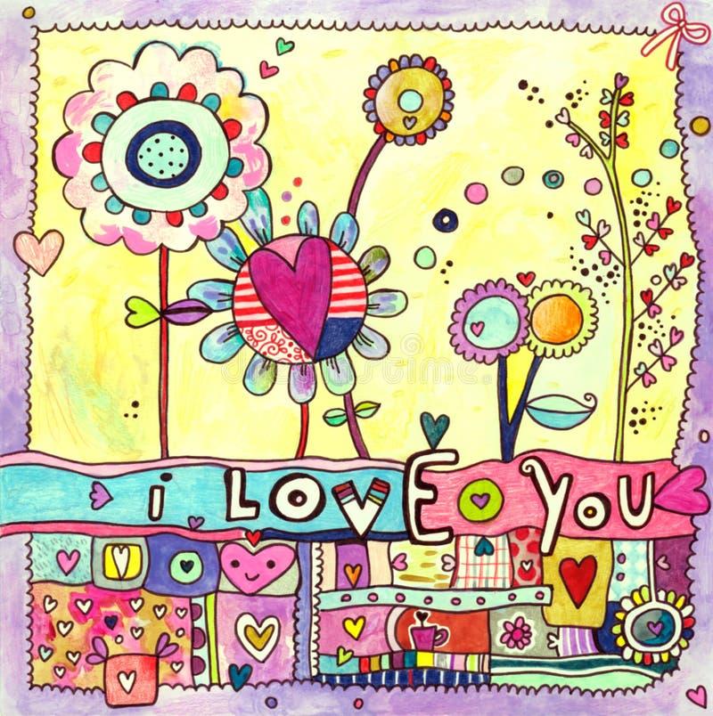 Cartão do amor ilustração royalty free