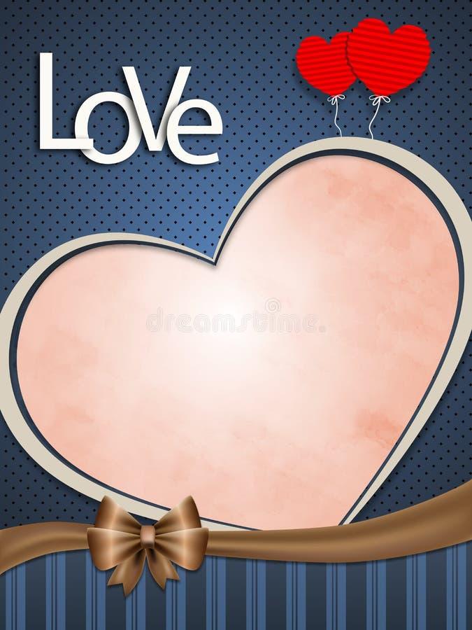 Cartão do amor fotografia de stock royalty free