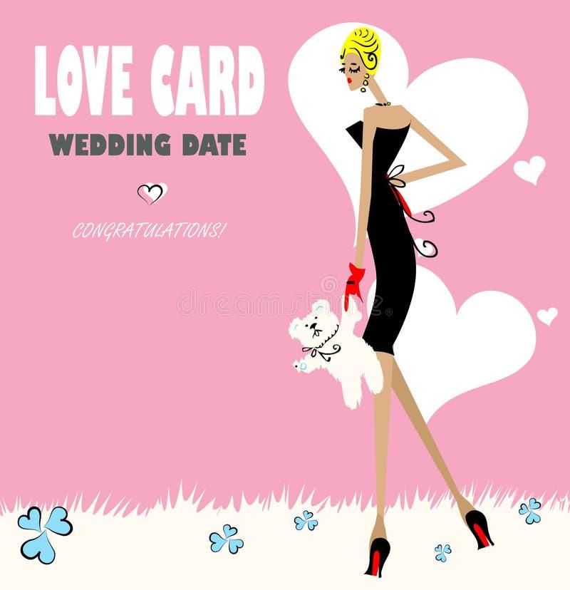 Cartão do amor da forma do encanto ilustração do vetor