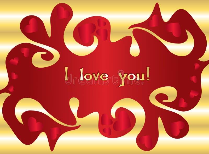 Cartão do amor do Valentim s ilustração royalty free