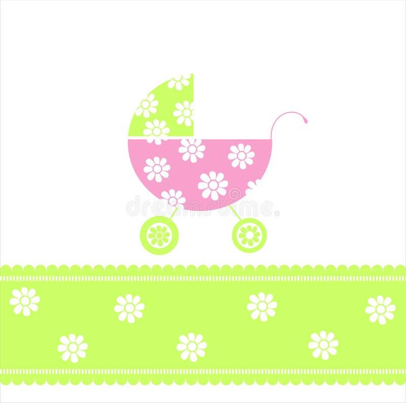 Cartão do anúncio da chegada do bebé ilustração stock