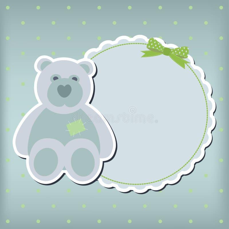 Cartão do anúncio da chegada do bebé ilustração royalty free