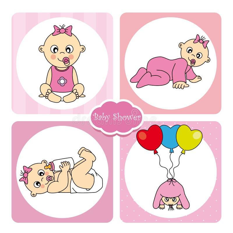 Bebé do cartão ilustração royalty free