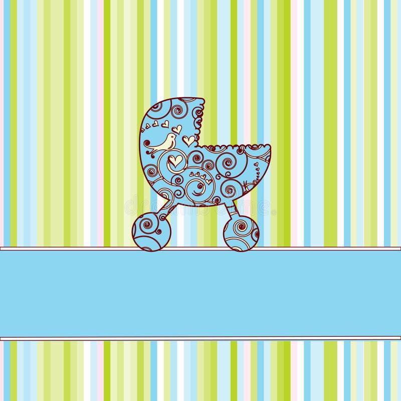 Cartão do anúncio da chegada do bebê ilustração stock
