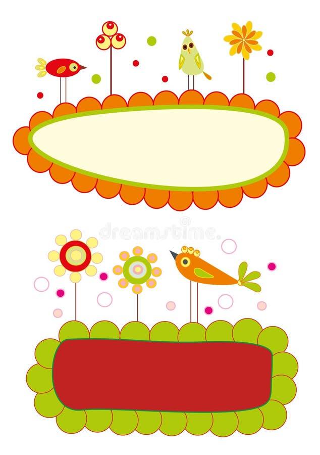 Cartão do anúncio da chegada do bebê ilustração royalty free