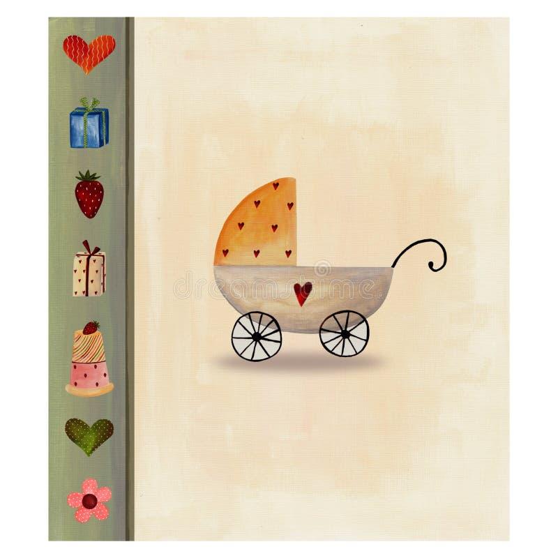 Cartão Do Anúncio Da Chegada Do Bebê Foto de Stock Royalty Free