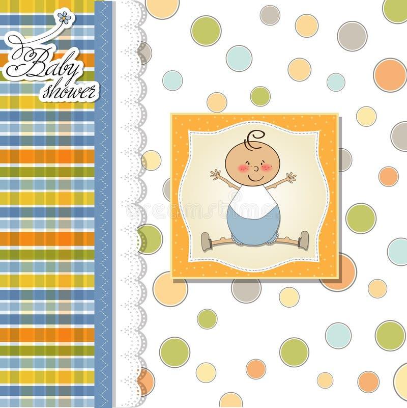 Cartão do anúncio do bebê ilustração royalty free